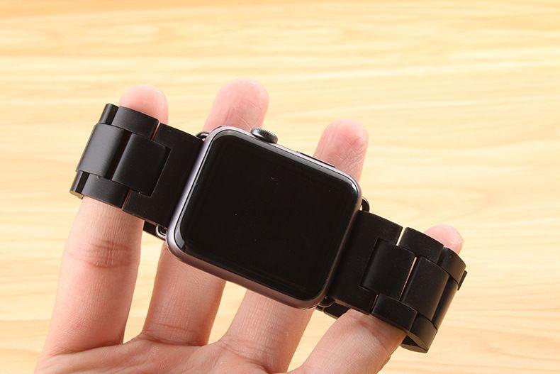 Nouveauté pour Apple bracelet de montre haute qualité en bois bracelet noir marron bracelet pour Apple bracelet de montre série 3/2/1 42mm 38mm