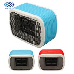 220 V 500 W Mini PTC Espace Céramique Radiateurs Électriques De Bureau Ventilateur de Chauffage Pour L'hiver Au Chaud 2 Couleur Bleu, rouge