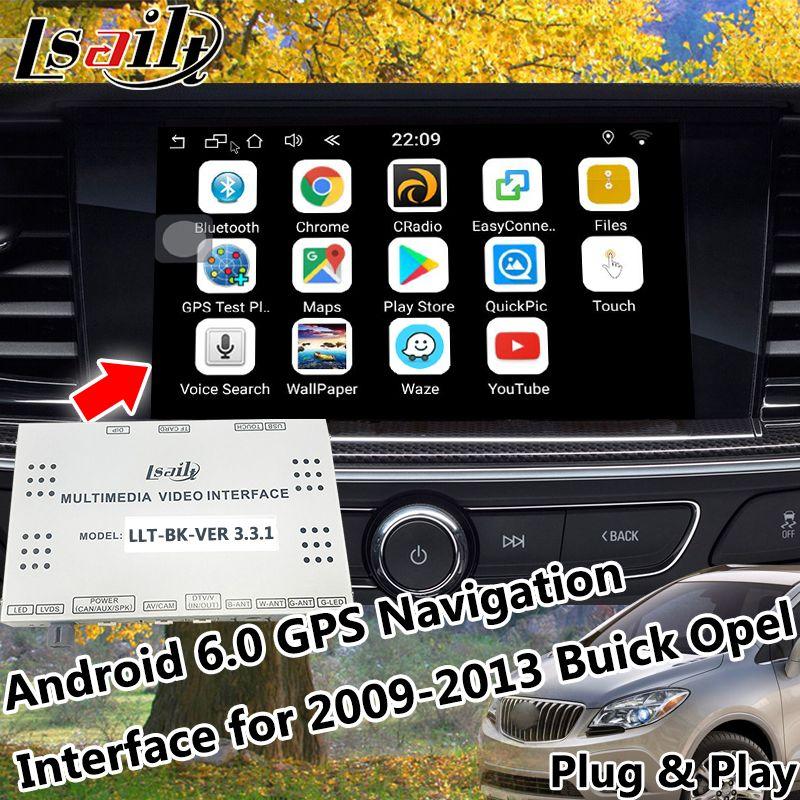 Android 6.0 GPS Navigator GPS Navigation System für 2009-2013 Buick Opel mit Mirrorlink Online Karte App Live Navigation