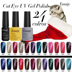 Essaje Magnétique Ongles Gel Laque Émail Permanent Soak Off LED UV Gel Vernis À Ongles Manucure 3D Cat Eye Gel Uv Kit De Vernis
