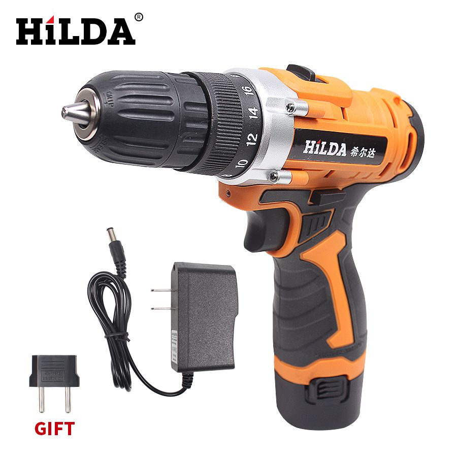 12V Electric Screwdriver <font><b>Lithium</b></font> Battery Rechargeable Screwdriver Drill Multi-function Cordless Electric Drill Power Tools