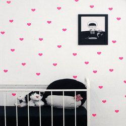Cinta hati stiker dinding anak kamar tidur diy stiker perekat diri muraux pour enfants chambres adhesivos para dikupas