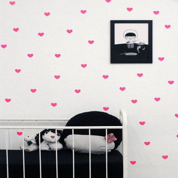 Love Heart Wall Stickers Children Bedroom DIY Self-Adhesive Stickers Muraux Pour Enfants Chambres Adhesivos Para Pared