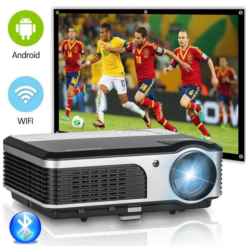 CAIWEI Android WIFI LCD LED Projector Home Theater Cinema Bluetooth Proyector Support 1080P Video Projection Beamer TV PC HDMI