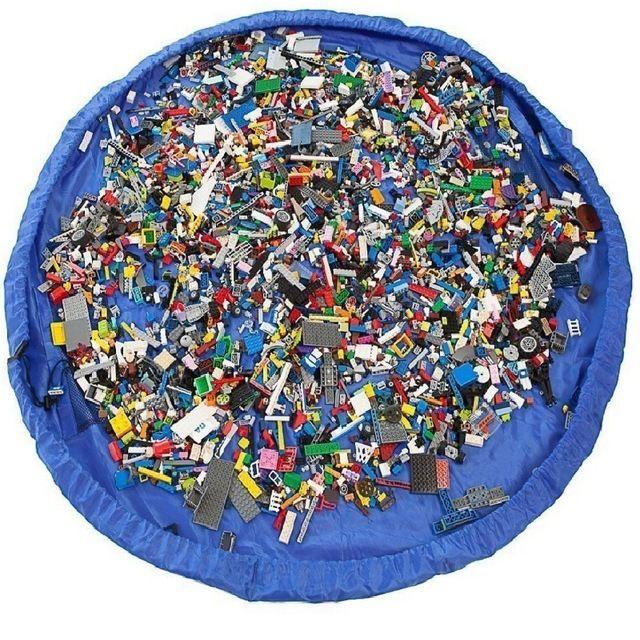 Enfants Enfants Bébé tapis de jeu Tapis Tapis Jouet De Bain sac de rangement Boîte panier de rangement Grande Capacité Couverture Boxs Jouer Jouets