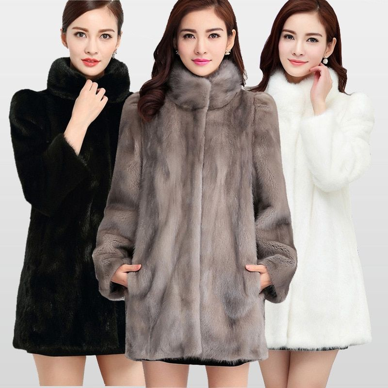 2018 New Fashion Real Full Pelt Mink Fur Coat For Women Warm Winter Coats Natural Fur Jacket Big Promotion For Wholesale MKW-040