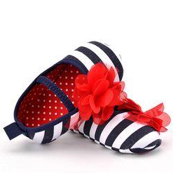 CHICHIMAO Baby Toddler Shoes Infant Toddler Stripe Flower Soft Sole Kid Girls Boy Baby Crib Shoes Prewalker 0-18 Months