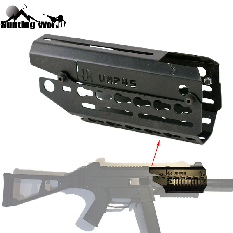 Tactical Two-piece Drop In Free Float Keymod Handguard Scope Sight Mount for Airsoft H&K UMP 45 Hunting Caza