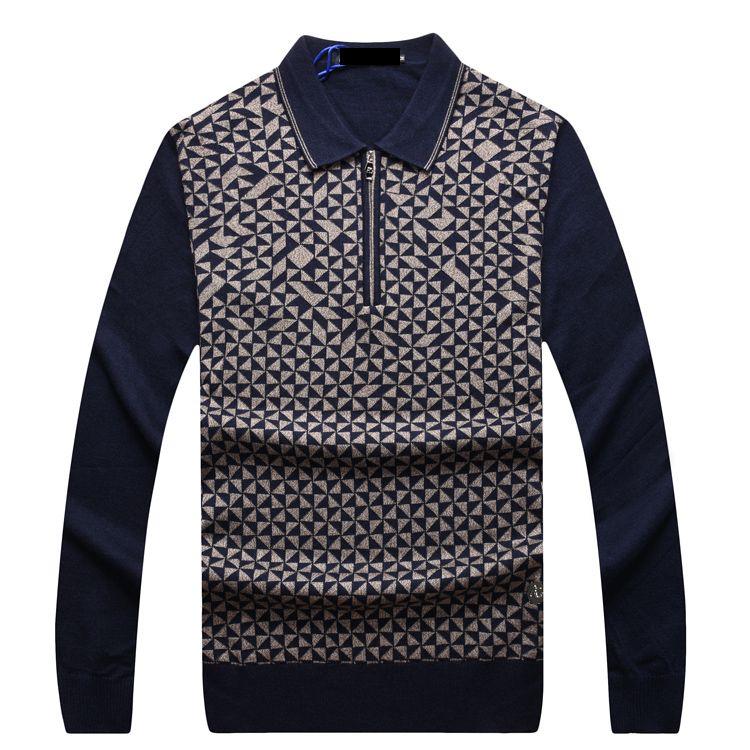 Multimillonario TACE & SHARK Suéter 2017 de invierno nueva moda de lana de los hombres de Negocios Cremallera calidez Cómoda de tamaño grande Envío gratis