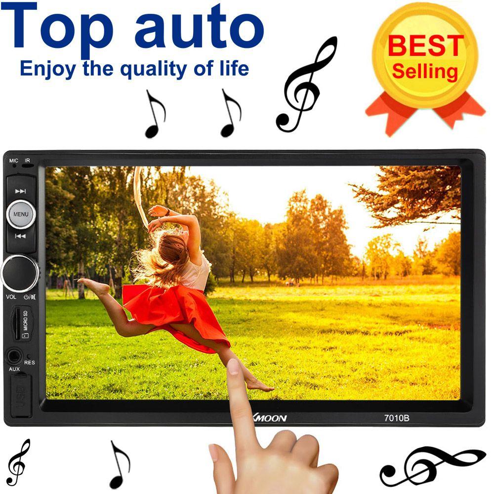 Универсальный автомобильный MP5 мультимедийный плеер 2 DIN Радио 7 дюймов Сенсорный экран Bluetooth FM/mp5/USB/AUX/ поддержка Bluetooth заднего вида Камера
