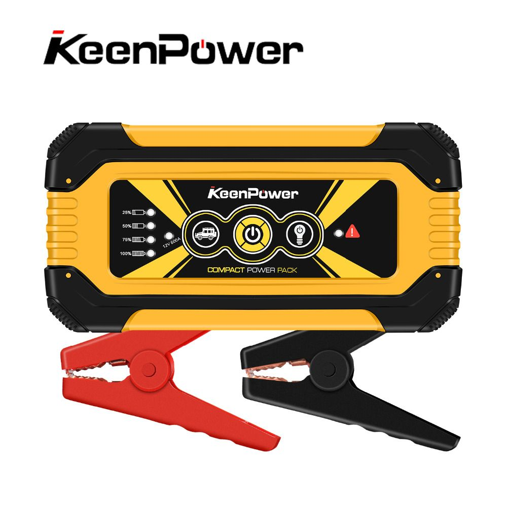 Keenpower 12V 600A/900A Car Power Battery Booster Buster Car-Stlying Starting Device Jump Starter High capacity