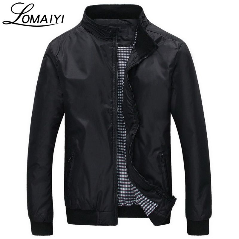 LOMAIYI Fashion Male Jacket Coat Men 2018 Spring Business Casual <font><b>Clothes</b></font> Summer Thin Windbreaker Mens Black Bomber Jackets,BM041