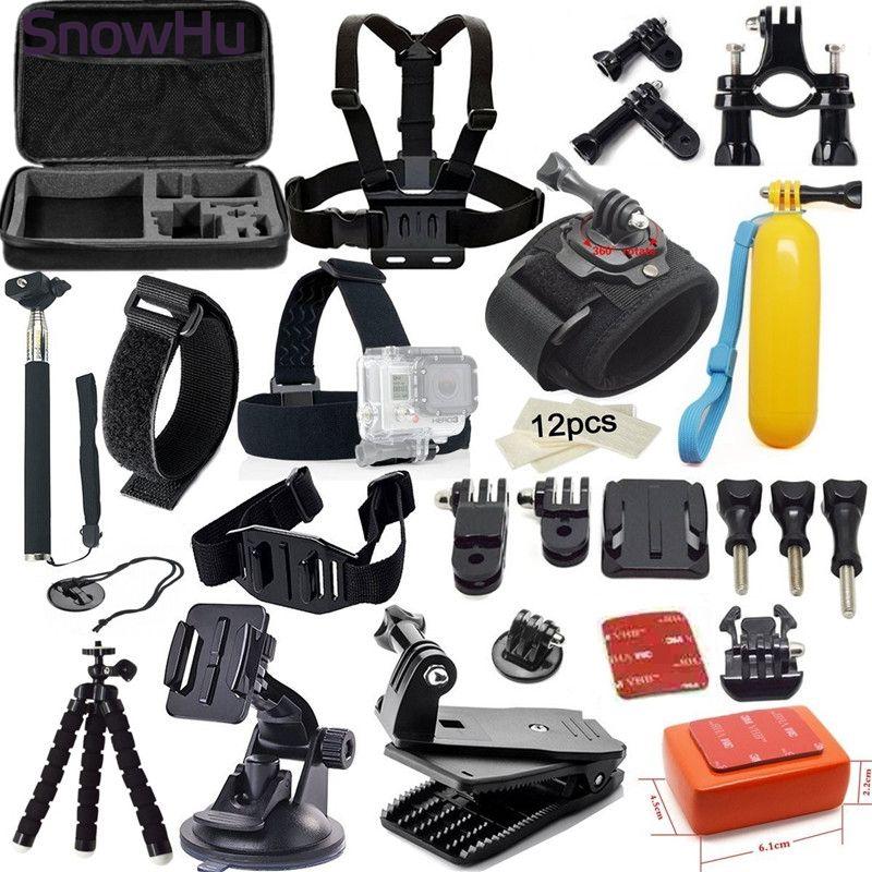SnowHu For Gopro Accessories set Suitable for Go pro Hero 7 6 5 5s 4 4s xiaomiyi 2 SJCAM SJ4000 SJ5000 Action camera GS05