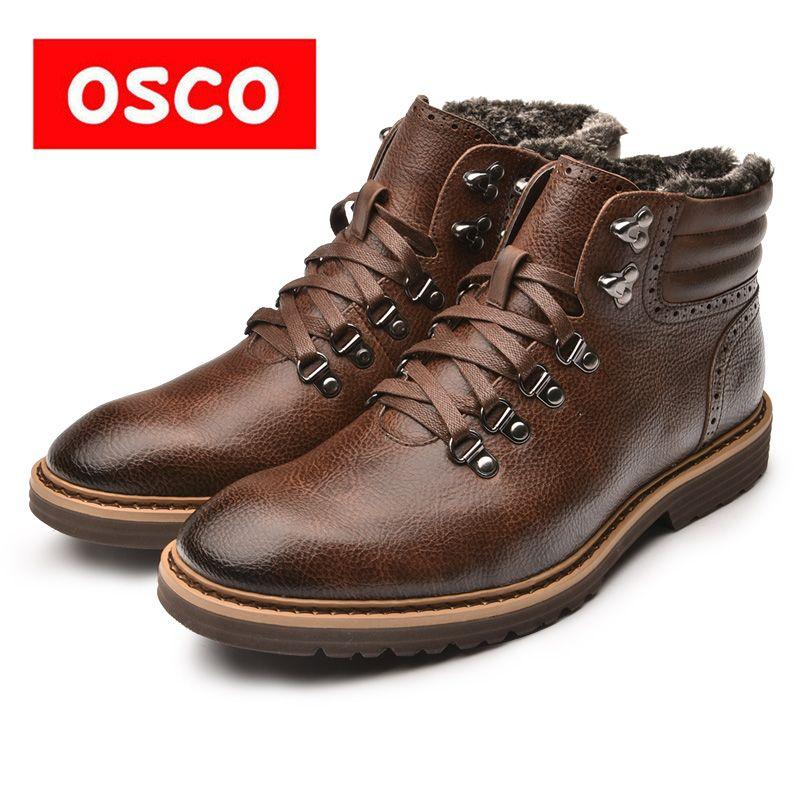OSCO Usine directe Avertir de fourrure Doublure Hiver Hommes Chaud bottes Plus Chaud Casusl style Hommes bottes D'hiver # MB998501P
