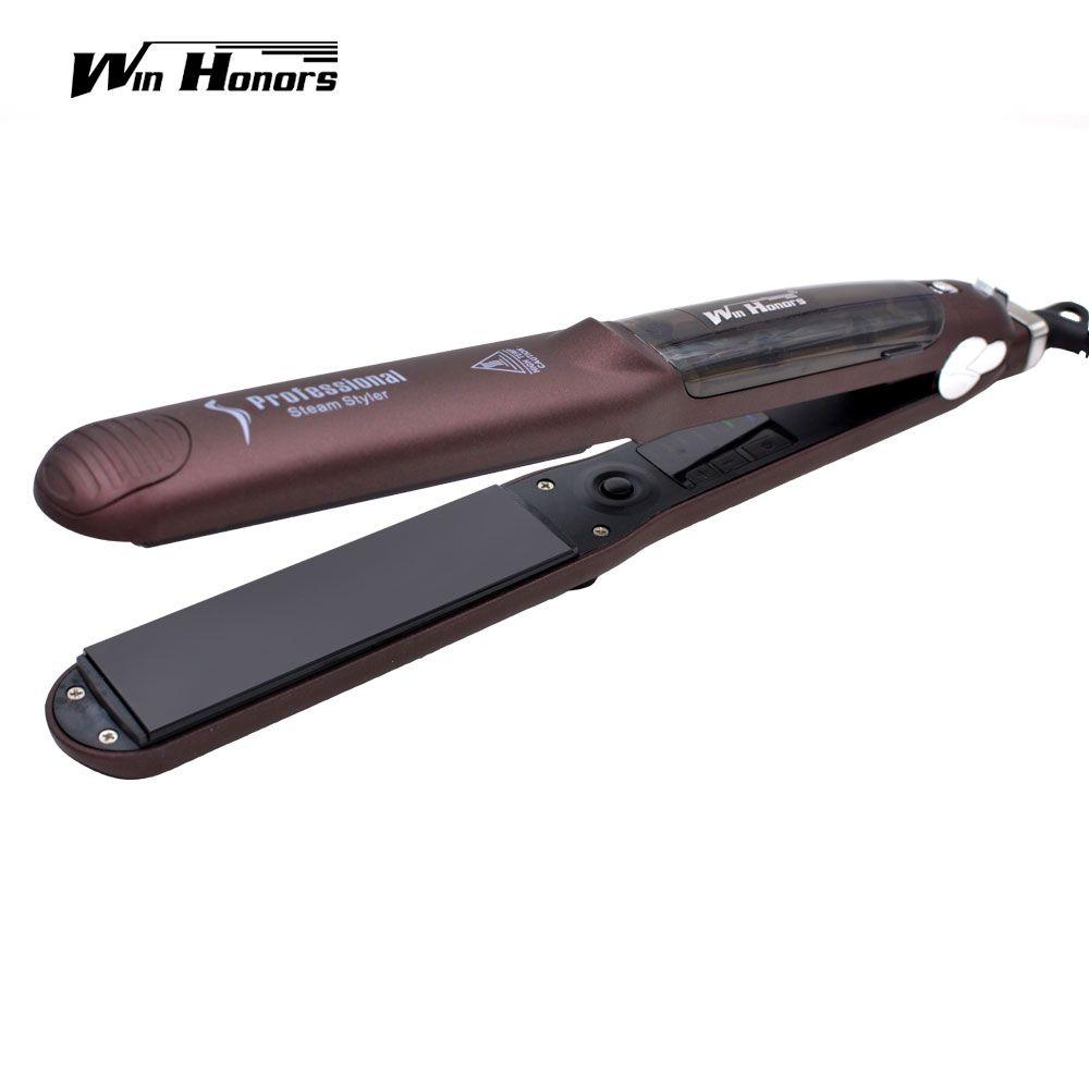 2017 NEW Steam Hair Flat Iron Ceramic Hair Straightener with Vapor Steam Function Straightening Irons
