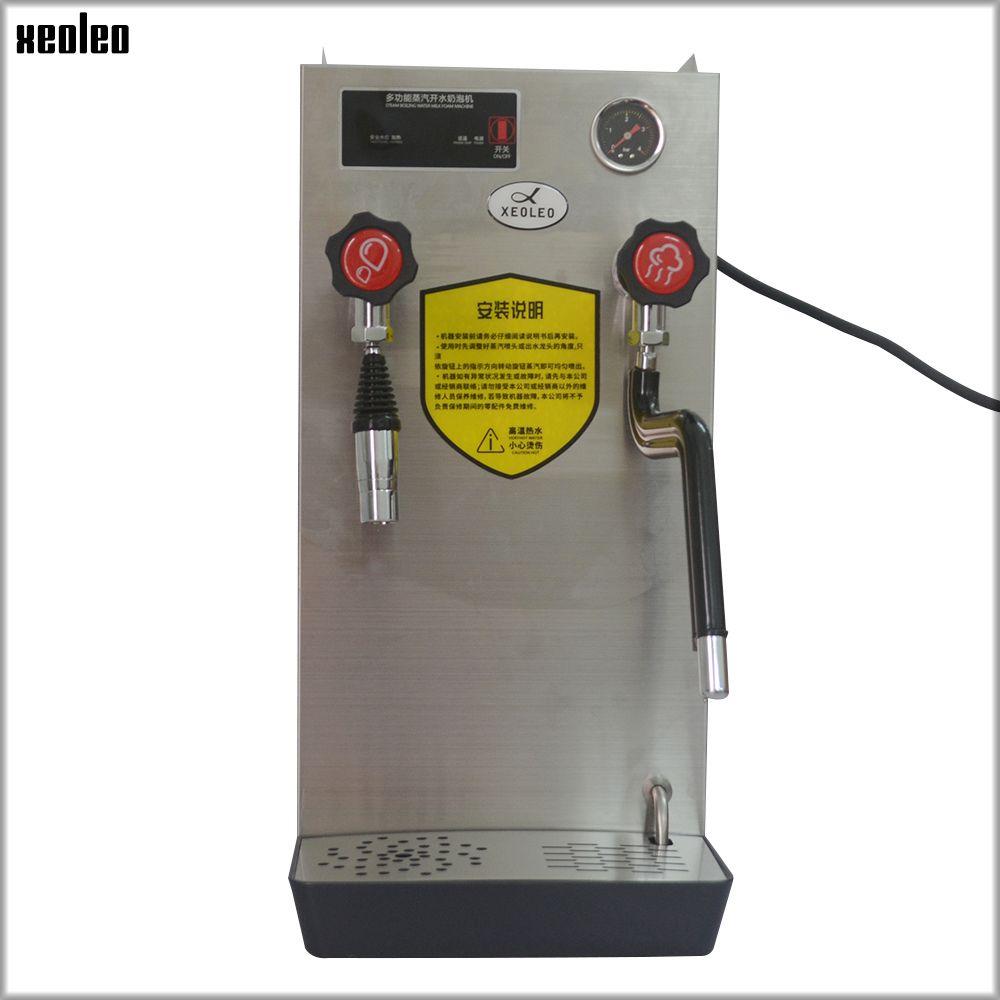 XEOLEO Hot water steam machine Coffee steam engine Milk foam maker Double function 8L 2500W Stainless steel Water machine