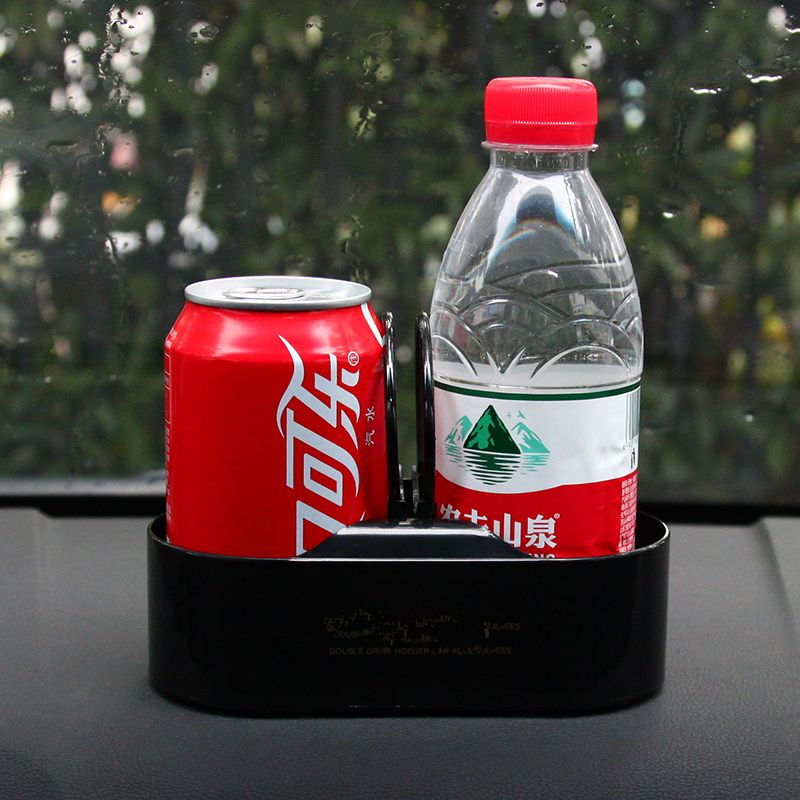 Multifunction Portable Auto Vehicle Dual Hole Drinks Holder Interior Car Organizer Cup Bottle Holder Stand Car Styling