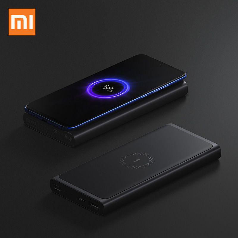 Xiao mi batterie externe sans fil 10000 mAh PLM11ZM USB type C mi Powerbank 10000 Qi chargeur sans fil rapide chargeur Portable