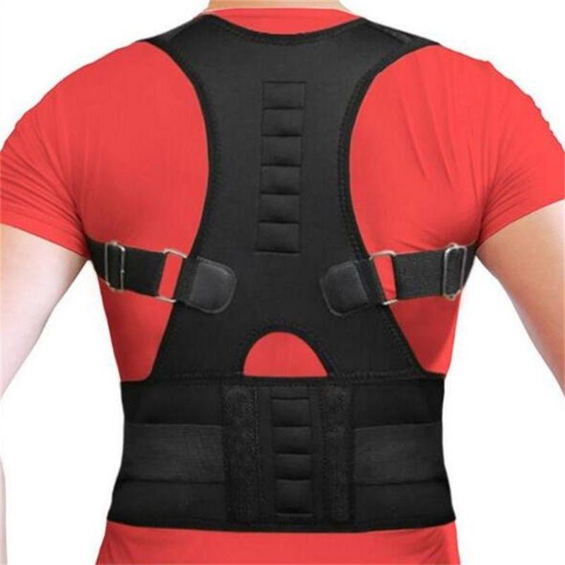 Men Women Magnetic Belt Orthopedic Magnetic Therapy Corset Back Posture Corrector Shoulder Back Brace Support Posture Correction
