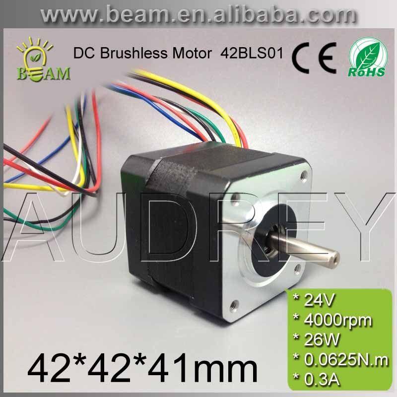 42BLS01 24 v 26 watt 4000 rpm bürstenlosen gleichstrommotor für DIY 42*42*41mm 5mm runde welle 3-phasen 0.3A bldc-motor