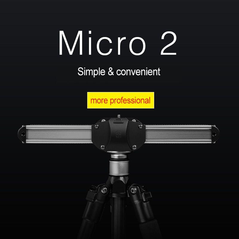 2018 новое обновление Micro2 Профессиональный портативный 33 см мини камеры слайдер путешествия трек Долли Slider Видео Долли железнодорожных путе...