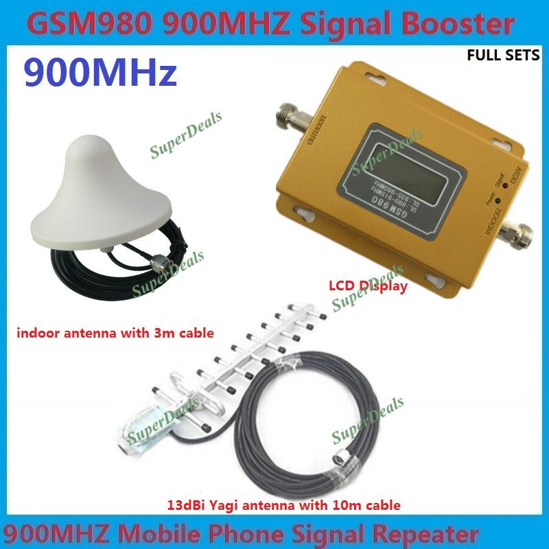 10m cable+yagi antenna 70dbi gsm repeater 900Mhz signal booster GSM booster repeater, 2G GSM amplifier signal booster GSM 900mhz