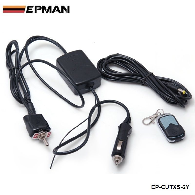 Wireless Remote control And Toggle Switch For Exhaust Muffler electric Valve Cutout System Dump For Seat EP-CUTXS-2Y