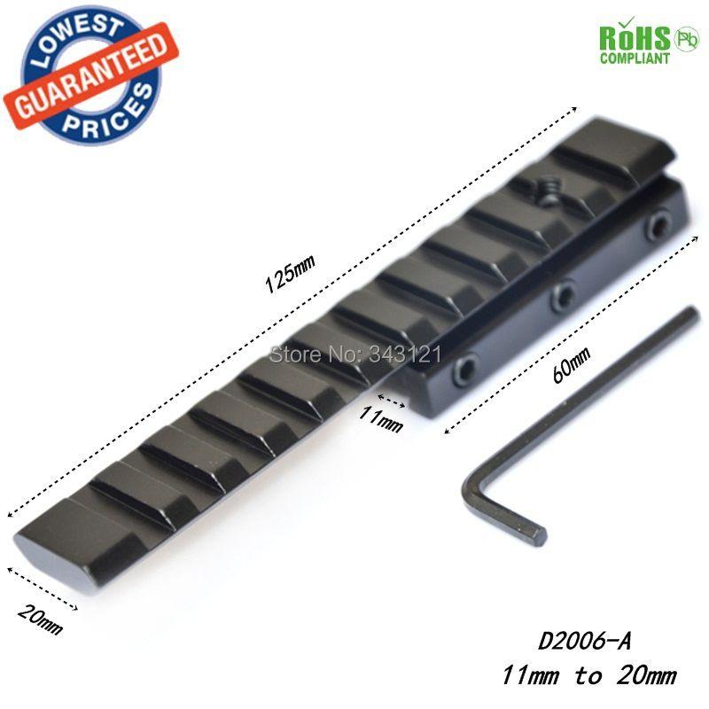 D2006-A 11mm/10mm à 20mm Extensible portée bases montage Picatinny sportif tisserand portée de montage largeur 20mm/21mm longueur 120mm