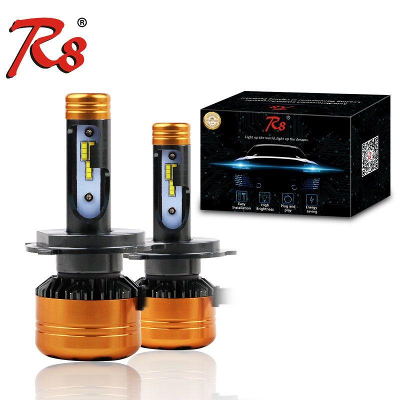 R8 New Design Z5 Dual Color Tricolor Car LED Headlight Bulbs H4 H13 9004 9007 50W 5800LM 3000K 4300K 6000K Good Quality 3-Color