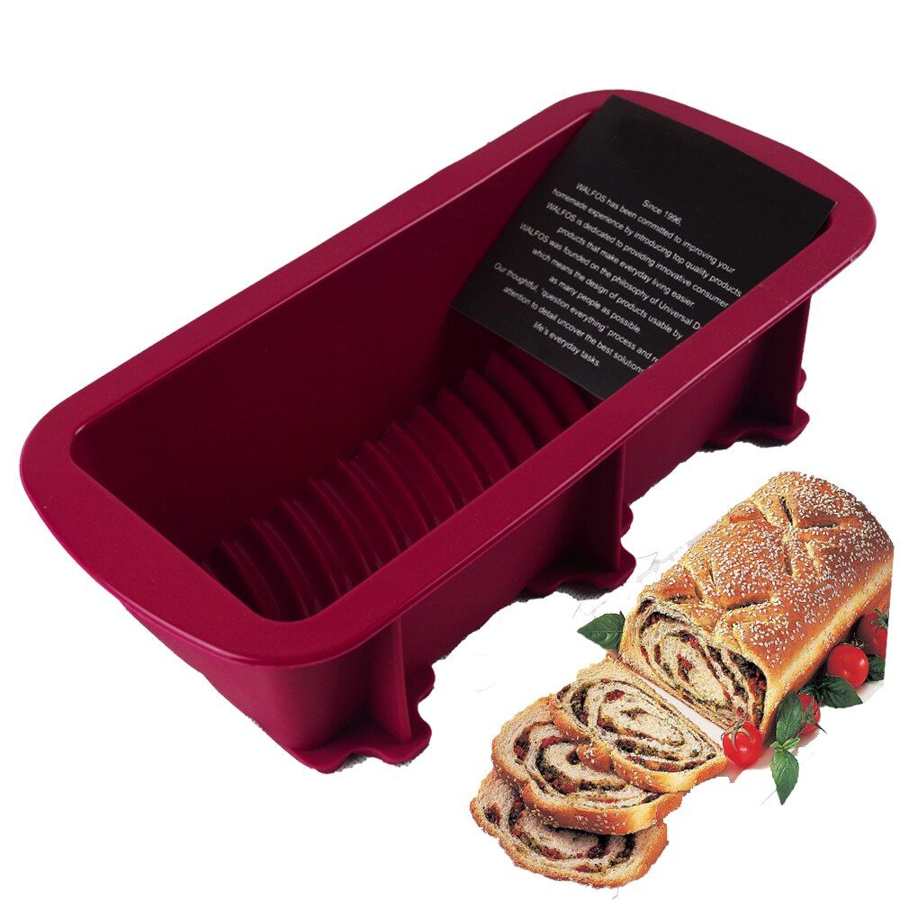 WALFOS grand Silicone Rectangle antiadhésif pain pain pain gâteau moule ustensiles de cuisson cuisson casserole four moule 27*12 CM 4 couleurs approvisionnement