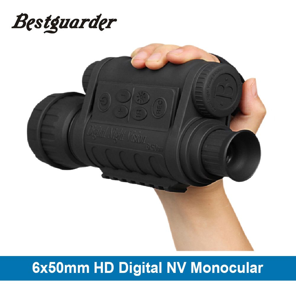 WG-50 HD 5MP 720P Infrared Night Vision Riflescope Scope Hunting Digital IR Night Vision Monocular Telescope 350m 6x50 Zoom DVR