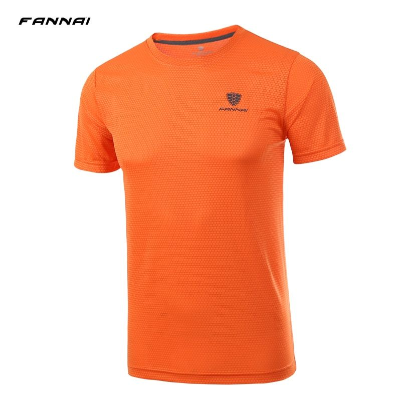FANNAI Men Short Sleeve Running T Shirt Men Compression Soccer Jerseys Brearthable Quick Dry Jogging Sportwears Large Size 4XL