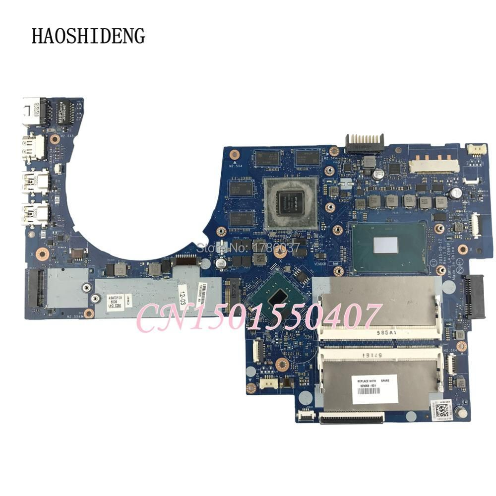 HAOSHIDENG 829068-601 LA-C991P For HP ENVY Notebook 17-R 17T-N Series Laptop Motherboard with 950 i7-6700HQ CPU fully Tested!
