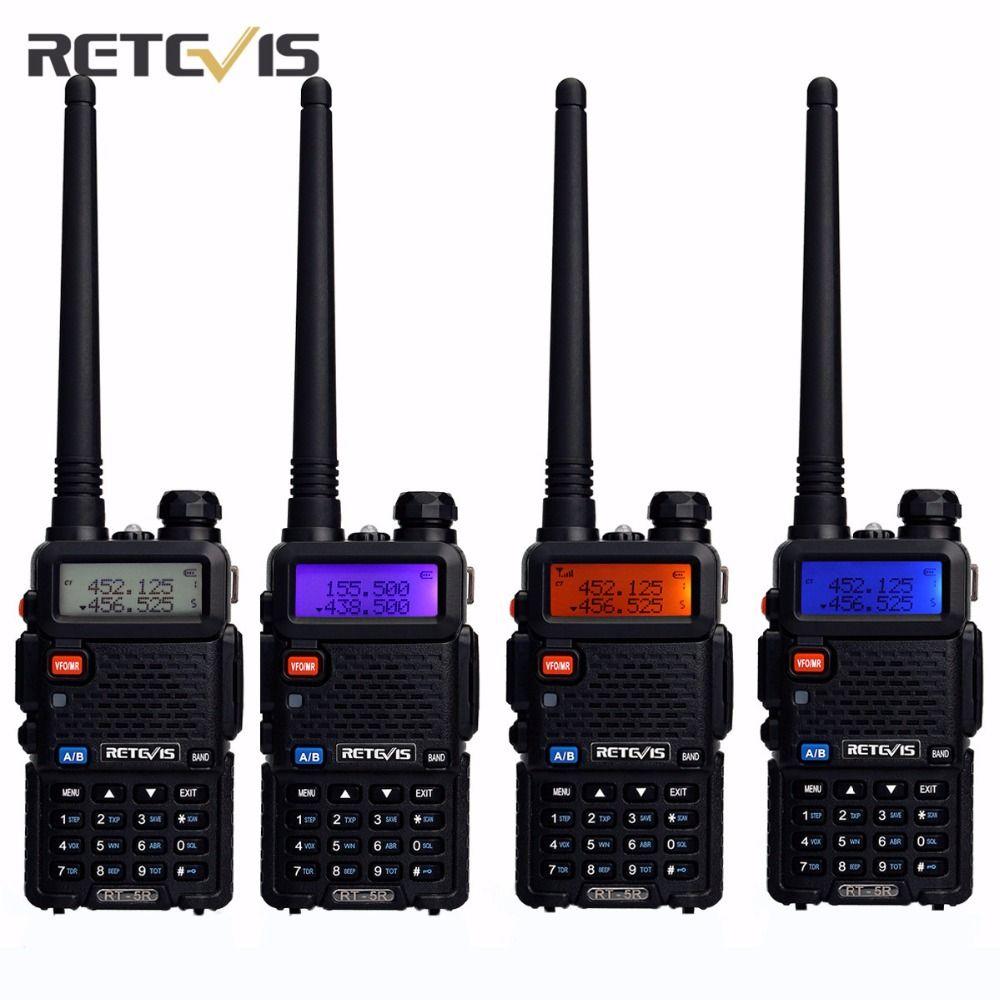 4X Team Handy Radio Walkie Talkie Transceiver Retevis RT-5R 5W 128CH VOX Scan FM Ham Portable Radio Set Good Communication Tools