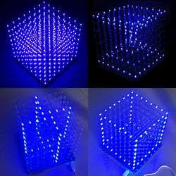 LEORY 8x8X8 512LED Fog Lamp DIY 3D LED Light Cube Kit Diy Electronic Kit With Accessory Protective Box For Display Advertisement