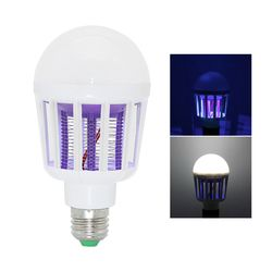 Indoor 2 in 1 Mosquito Killer E27 LED Bulb 9W 220V Lamp Insect Anti-Mosquito Repeller Killing Fly Bug Home Night Light