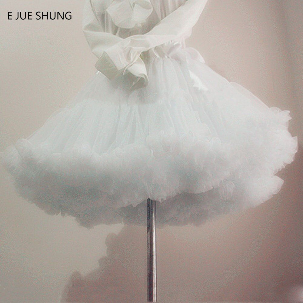 E JUE SHUNG robe de Bal Jupon Swing Robe Courte Jupon Lolita Jupon Ballet Tutu Jupe Rockabilly Crinoline