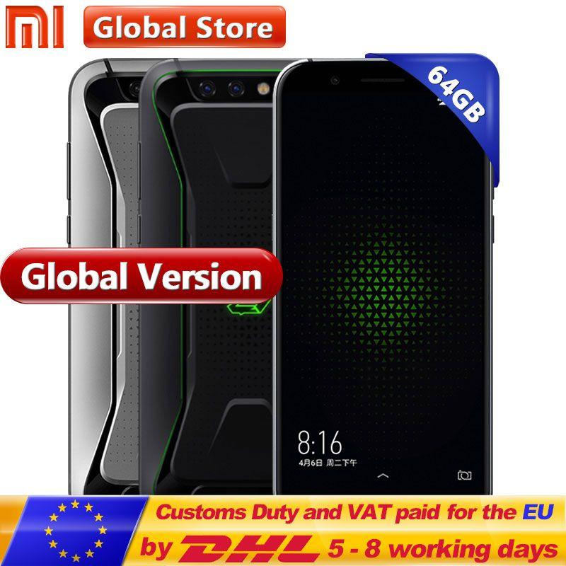 Global Version Xiaomi Black Shark Gaming Mobile Phone 6GB 64GB Snapdragon 845 Octa Core Dual 20.0MP 18:9 Full Screen 5.99