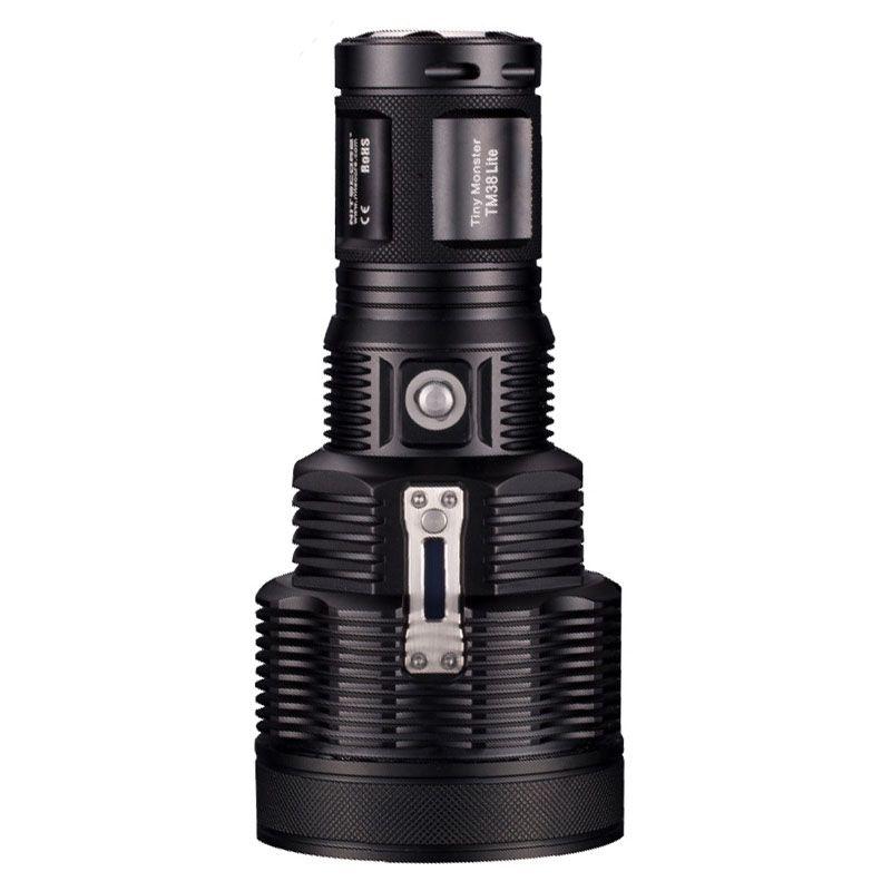 Wiederaufladbare Taschenlampe NITECORE TM38 Lite XHP35 HALLO D4 MAX. 1400LM Leuchtweite 1800LM langhub Taschenlampe für camping & suchen