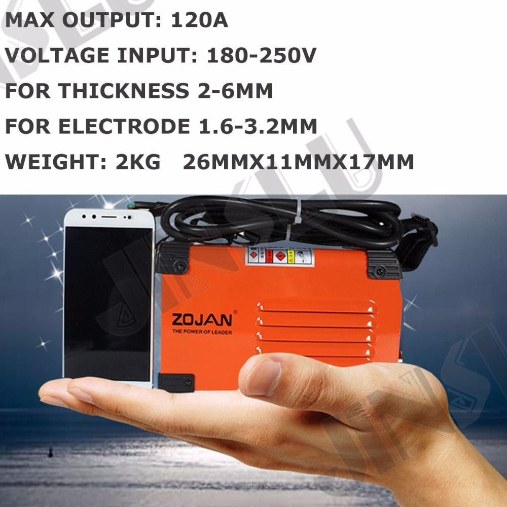 120A 180-250V Compact Mini MMA Welder Inverter ARC Welding Machine Stick Welder