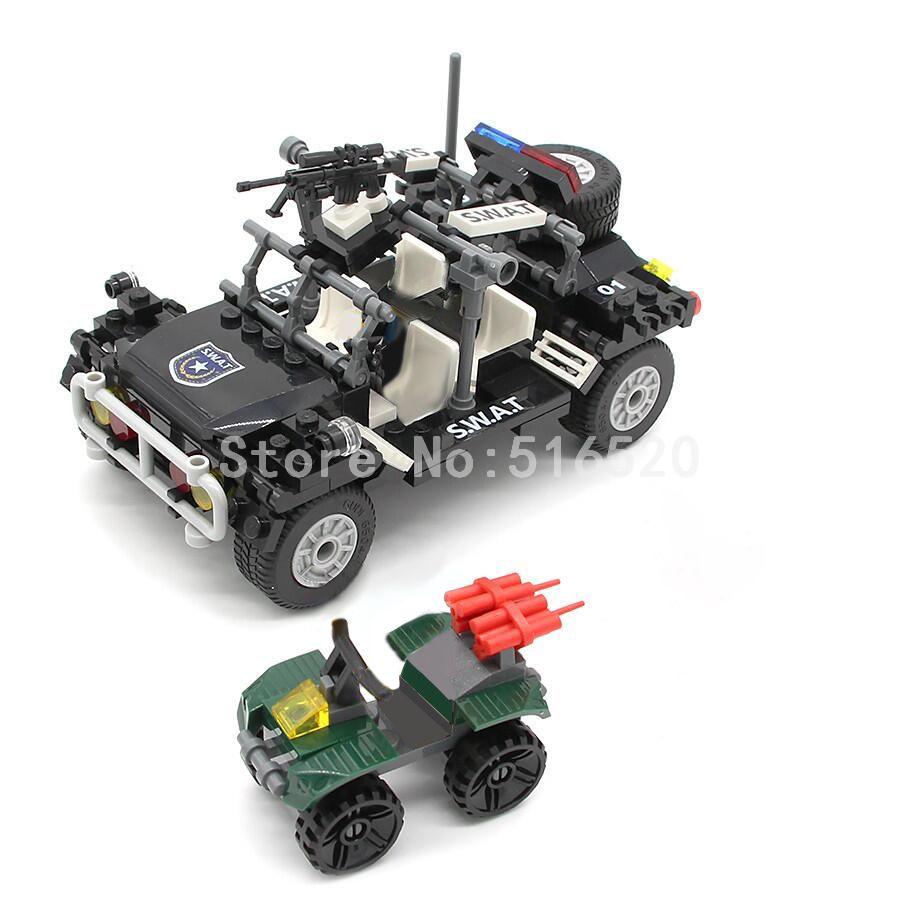 GUDI SWAT Véhicule D'assaut 246 pièces Briques Blocs De Construction Ensembles Modèles Jouets Éducatifs Pour Enfants compatible avec Legoings