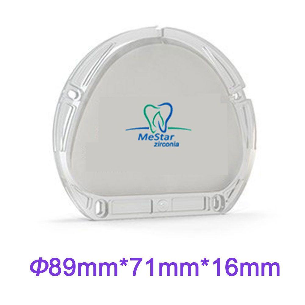 AG CFAO Dentaire Matériaux Zircone Blanc 89*71*16mm Blanc Couleur Super Translucide