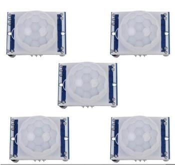 Livraison Gratuite 5 PCS SR501 HC-SR501 RÉGLEZ le module IR Infrarouge Pyroélectrique PIR Motion Sensor Module Détecteur pour arduino