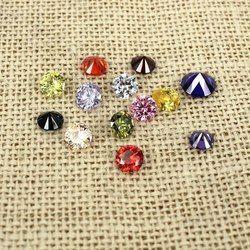 Baru Tiba Cubic Zirconia Batu Brilian Pemotongan Perlengkapan untuk Perhiasan 3 Mm 100 Pcs Bulat Pointback Beads Kuku Seni Diy dekorasi