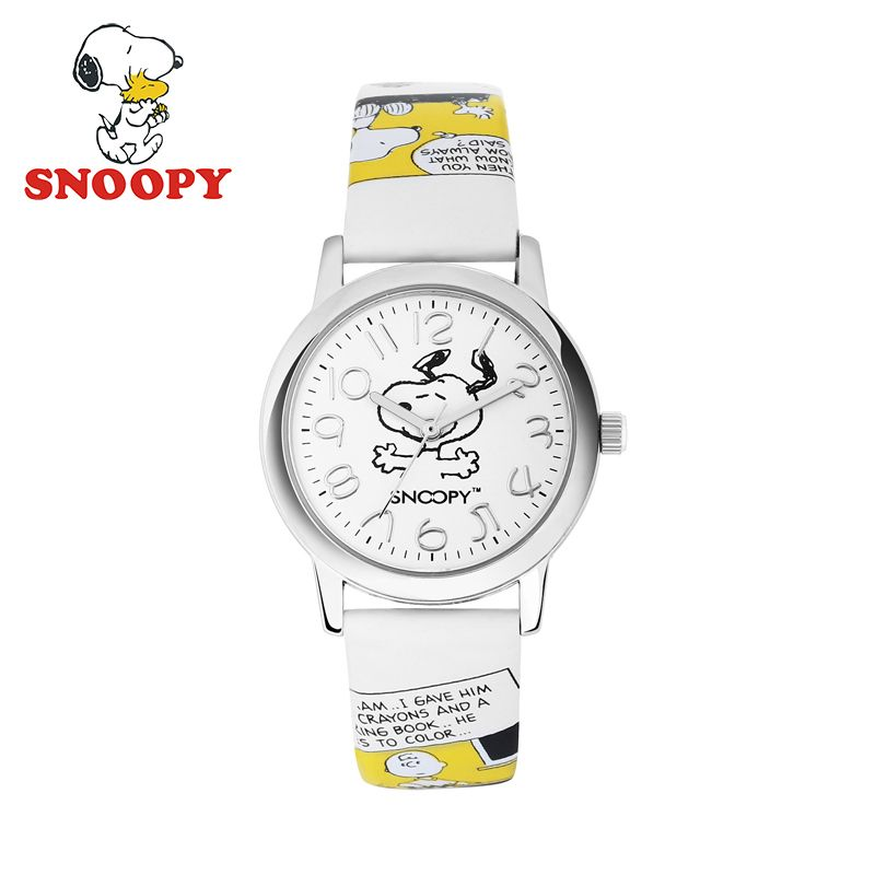 Snoopy Original Quartz Cartoon Strap Children Watches for boy girls Cute Ladies Women Watches Leather Band Waterproof Gift Clock