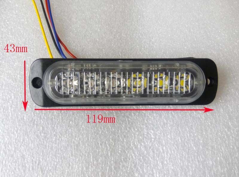 Supérieur de 6*3 W Led de voiture Feux d'avertissement gril, d'urgence lumière, lumières stroboscopiques, clignotant lumières, étanche IP68