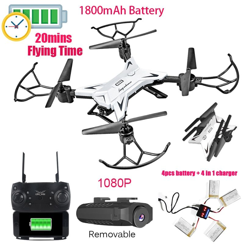 2018 INKPOT KY601S Foldable RC Drone Quadcopter With 1080P HD Camera Drone Professional 1800mAH Battery Selfie Folding Dron