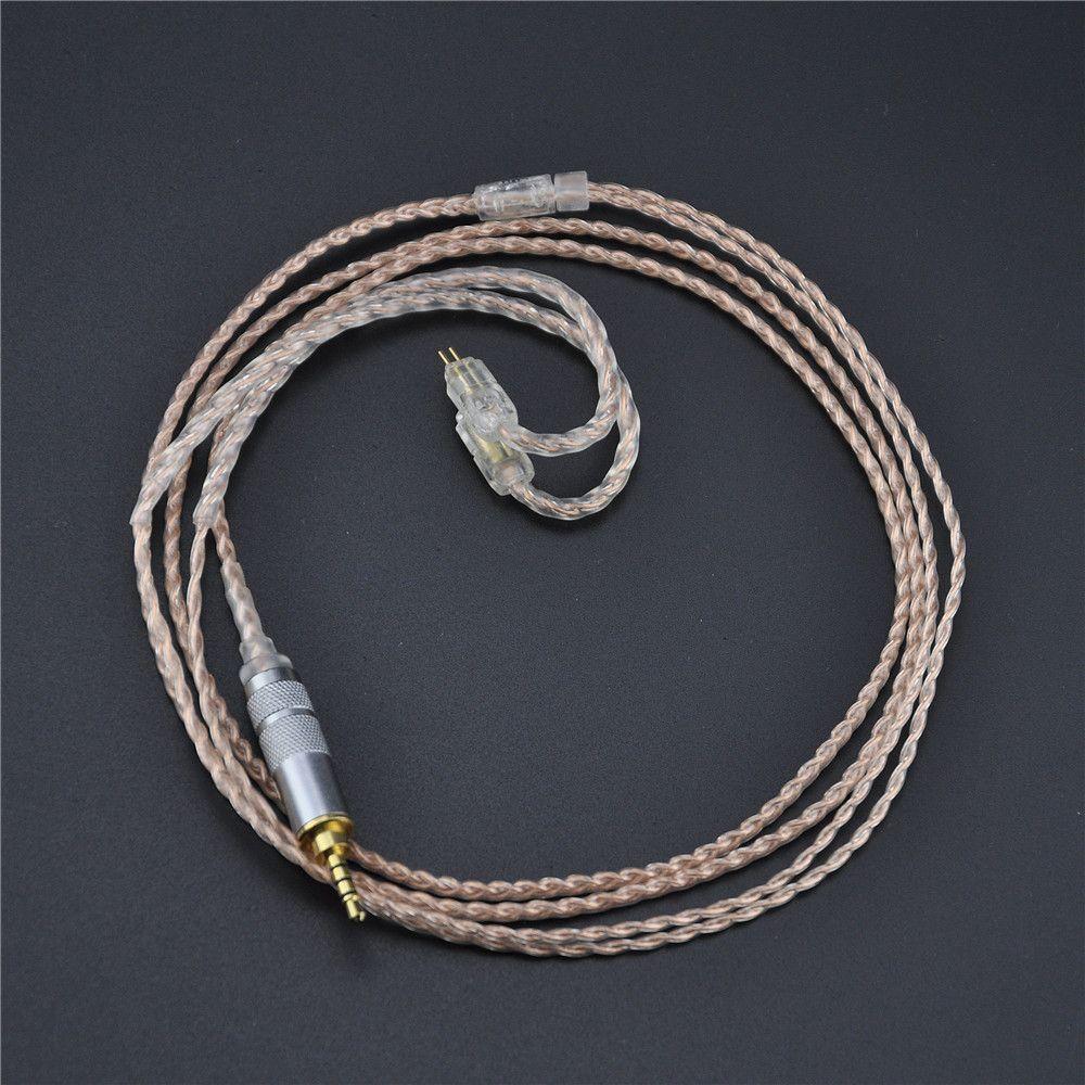 НОВЫЙ 2.5 мм KZ zs3 zs5 кабель 2Pin посеребренные и Медь обновлен кабель наушников для KZ zs5 zs3