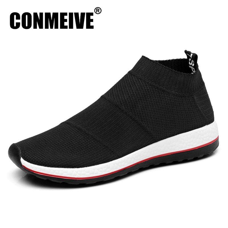 Vente chaude Respirant Hommes Chaussures Mesh (Maillage de l'air) superstar Sneakers Lumière Appartements Hommes Mocassins Casual Slip sur Mâle Chaussure Homme