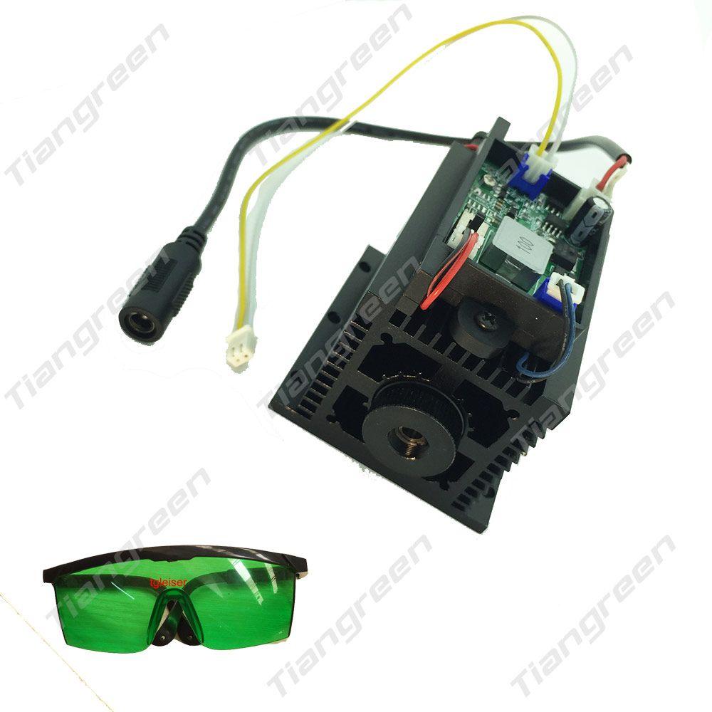 High power 450nm 15 w blau laser modul DIY kopf 15000 mw TTL einstellbar für CNC